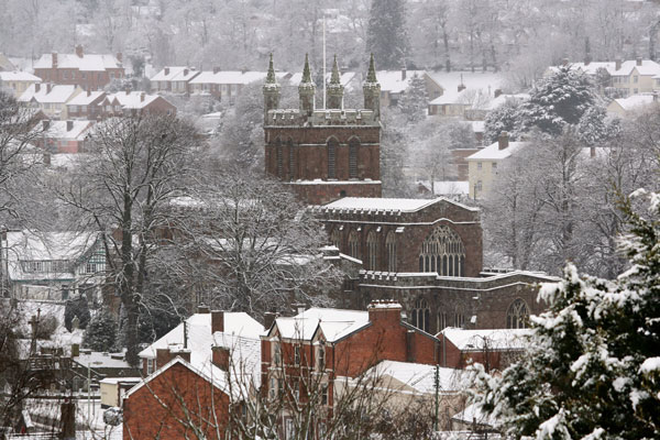 Holy Cross Church during the winter of 2009/10