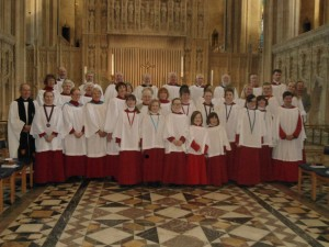 Holy Cross choir, Bristol Cathedral, 25/01/2014